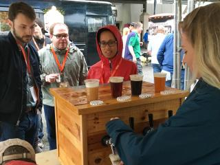 The wet weather didn't keep people inside Friday night as the 2016 Brewgaloo, one of the largest craft beer festivals in the state, began in downtown Raleigh.