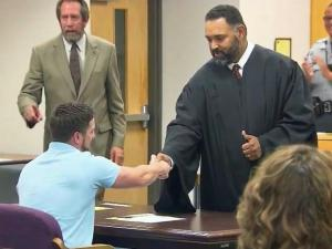 Veterans Treatment Court, a Cumberland County program that helps veterans avoid jail time and rebuild their lives, celebrated its first graduate Tuesday night.