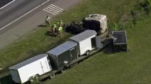 IMAGES: One dead in I-95 tractor-trailer wreck