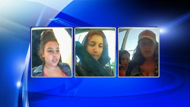Police said three women were caught on surveillance cameras placing the bank card skimmers at a Sun Trust ATM on April 26 and 27.