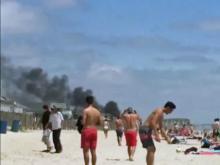 RAW: Fire in Wrightsville Beach