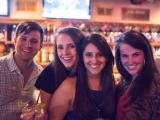 Revelers party down Fayetteville Street on Friday night