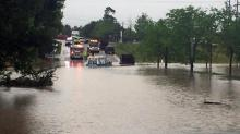 Flooding traps private ambulance in south Raleigh