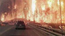 IMAGE: Raleigh woman feels helpless watching fires burn in Canadian hometown