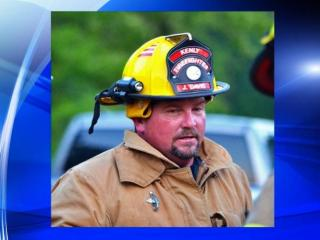 A firefighter died Saturday after assisting with a car crash.