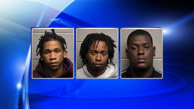 Anthony Joseph Brown-Cameron, Tori Demarco Bumpers and Malcolm Lee Davis were all arrested Saturday in connection with a breaking and entering and stolen vehicle in Durham.