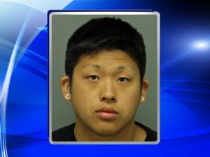 Kevin Chou, 23, was detained at the scene and charged with assault with a deadly weapon with intent to kill inflicting serious injury.