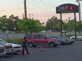 A person was taken to Cape Fear Valley Medical Center for treatment after a Tuesday night shooting in the parking lot of Smoky Bones restaurant near the Cross Creek Mall in Fayetteville.