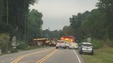 IMAGES: Trooper: Wake County school bus drivers injured in accident