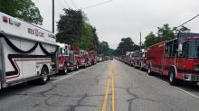 IMAGES: Hundreds gather to mourn Kenly firefighter who died after heart attack