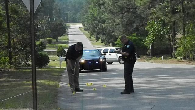 Two people were hospitalized Monday after an afternoon shooting in Southern Pines.