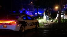 IMAGES: Car wrecks into Durham utility pole after shooting