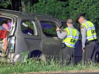 Authorities said a 7-year-old was killed and two other people were injured in an accident that occurred on U.S. Highway 70 business near Guy Road in Clayton late Friday night.