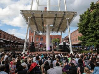 Moog Fest makes it's first appearance in Durham, N.C. during May 19-22, 2016. Music, arts, culture, and training events scatter across downtown Durham featuring Gary Numan and Reggie Watt on Saturday. (Chris Baird / WRAL Contributor).