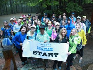 Dozens of people spent their weekend hiking nearly 25 miles up Pilot Mountain to raise money for Make-A-Wish Eastern North Carolina.