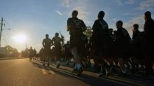 IMAGES: Thousands of soldiers start All American Week with 4-mile run