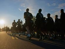 Thousands of soldiers started All American Week at Fort Bragg Monday morning with a four-mile run.