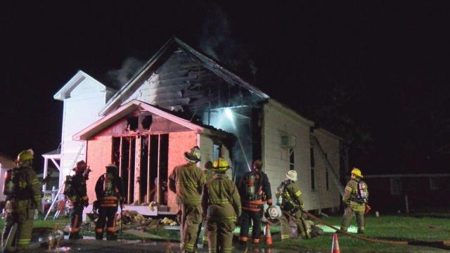 A church in Kenly sustained heavy damage on Tuesday night when a fire tore through the 100-year-old building.