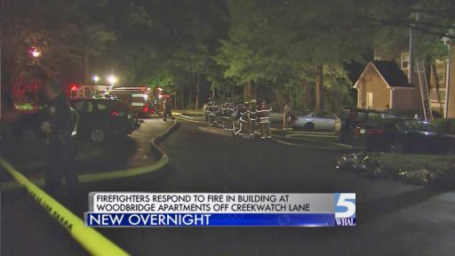 Authorities are investigating the cause of a Cary apartment fire late Wednesday night that displaced as many as 20 families.