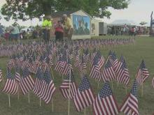Field of Flags honors fallen heroes at Balloon Fest