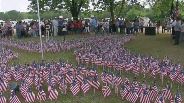 A Memorial Day service at the WRAL Freedom Balloon Festival honored veterans Monday.