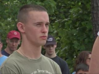David Griffith dedicated his Eagle Scout project -- a monument to locals lost in the war on terror -- to his brother.