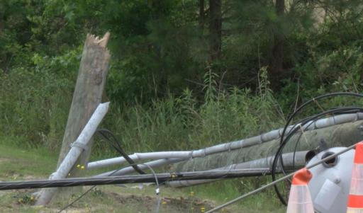 A driver was injured in a single-vehicle crash on Wednesday morning near Smithfield that knocked out power to homes around the scene.