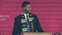 IMAGE: Man from Fayetteville delivers viral Harvard graduation speech