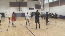 IMAGES: Durham basketball league trades service, class for playing time