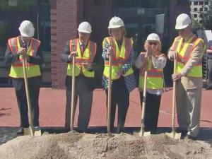 City leaders held a ceremonial groundbreaking Thursday morning for the $18 million project that will put three roundabouts between Gardner Street and Rosemary Street by the end of 2017.