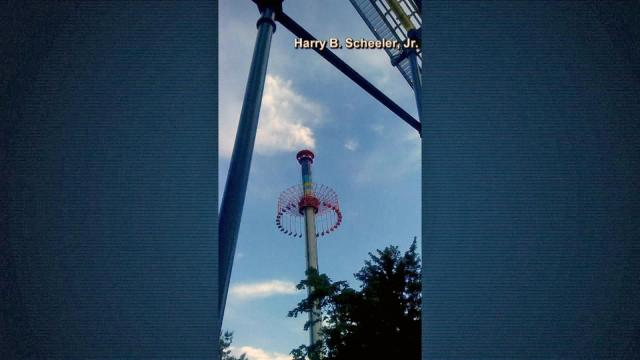 Several thrill seekers were temporarily stranded on at least three rides at Carowinds Thursday night after a power failure at the amusement park.
