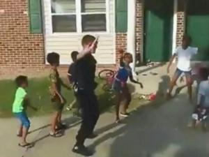 The video of a Durham Police officer dancing with a group of children has gone viral on social media, but for one Durham community it means so much more.