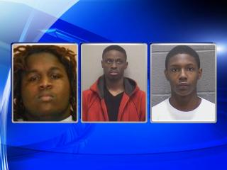 From left, John Devere Battle, Tycorey Jamal Tabron, Justin James Atwater.