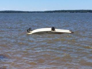 A small plane crashed and flipped on Saturday into the waters of Lake Gaston near Littleton.
