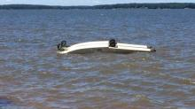 IMAGES: No injuries reported in Lake Gaston plane crash