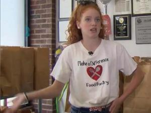 Kenzie Hinson is the moving force behind the Make a Difference Food Pantry in Wayne County.