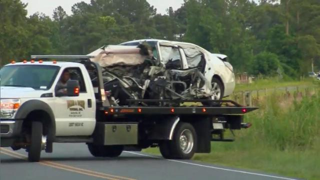 Authorities said an SUV crossed the center line at the intersection of Tew Road and Baptist Chapel Road in northern Sampson County on June 25, 2016, and both drivers and a child were killed in the crash.