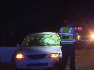 A 16-year-old boy died and a 15-year-old girl was injured Monday night after being struck by a car in Harnett County, officials said.