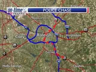 Authorities on Tuesday morning were involved in a high-speed car chase through southern Wake County and Raleigh.