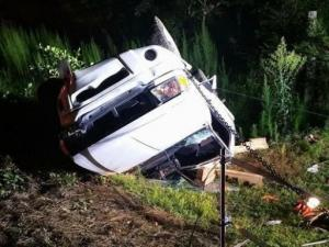 Truck flips, rolls several times in Four Oaks wreck