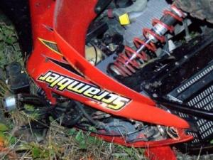 One person is dead and another is injured after two all-terrain vehicles crashed early Monday.
