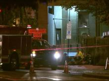 A pair of underground explosions rocked downtown Durham Tuesday night and tossed manhole covers from the street, doing some minor damage to a building, officials said.