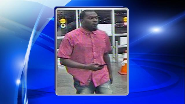 The Cumberland County Sheriff's Office is seeking public assistance in locating a man who used stolen credit cards in several Hope Mills stores.