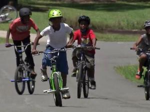 A group of kids were able to ride their bikes with a smile on Thursday, thanks to the generosity of the Hillsborough Police Department.