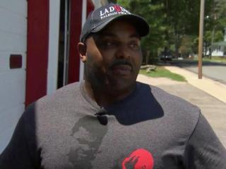 Jason Brown said six years as a Raleigh firefighter has meant tough times for his family.