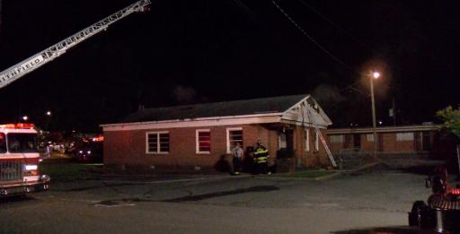 Fire damaged a commercial building Wednesday night in Smithfield that was undergoing major renovations.