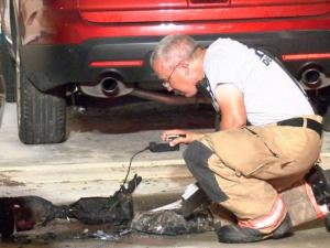 A hoverboard caught fire while charging Wednesday night and damaged a home in the Glenn Laurel subdivision of Clayton.