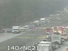 Wreck closes I-40 in Johnston County