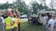 IMAGES: Military convoy involved in Johnston County I-40 wreck