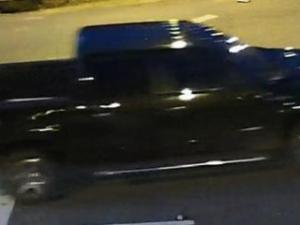 Police said the man was driving a black four-door Ford F-150.